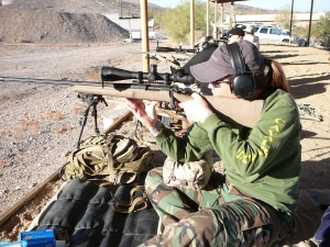 My newness shows in this picture! My seated shooting has improved considerably since 2010.