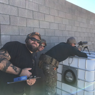 Range Officers goofing off