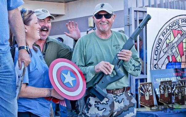 "Our club decided to give a special award last year: The Shawn Shaw ""Captain America"" Sportsmanship Award. Rick Tedford from NorCal was our first recipient. He was awarded a one-of-a-kind trophy, AZ LRPRS gave him back his match fee, and Mr. Terry Cross donated a KMW Sentinel stock."